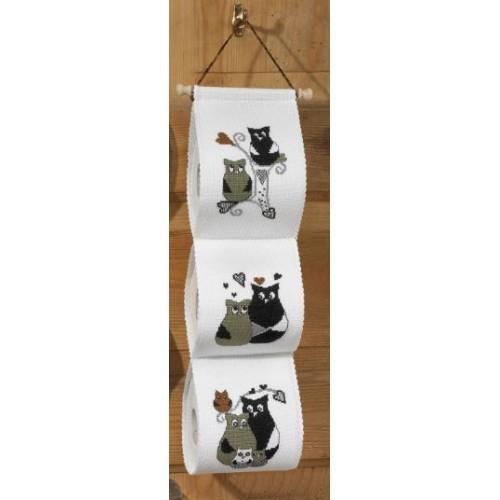Держатель для бумаги туалетной вышивка 26
