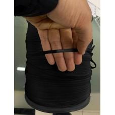 Резинка мягкая плоская для масок 4 мм черная 1 метр