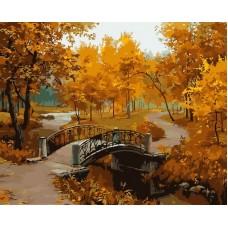Осенний парк живопись на холсте 40*50см 40х50 Белоснежка 527-CG