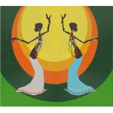Танец (рис. на габардине 40х40) (круговая техника) 40х40 Конек 9511