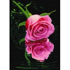 Роза красная набор для частичной  выкладки стразами 45х63,5 Солнце HS-8019