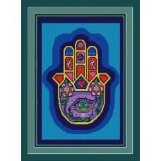 Хамса (Рука Бога) (рис. на габардине 39х29)