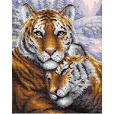 Тигры Набор для выкладывания стразами 38х48 Brilliart МС-020