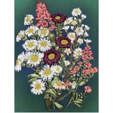 Набор Полевые цветы вышивка лентами 18,5х25,5 Каролинка КЛ(Н)-4003