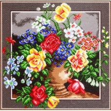 Цветочное изобилие Рисунок на канве 41/41 41х41 (34х34) Матренин Посад 1271