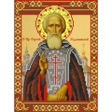 Святой Сергий Радонежский Рисунок на шелке 28/34 28х34 (18х24) Матренин Посад 3010ш