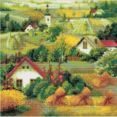 Сербский пейзаж набор для выкладывания стразами 40х40 Риолис АМ0013