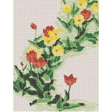 Тюльпаны (рис. на габардине 39х29) 39х29 Конек 9637