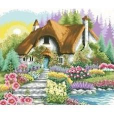 Дом у озера набор для выкладывания стразами 53х53 Jing Cai Ge Diamond Painting DIY (Honey Home) 7444
