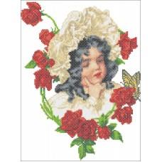 Набор Девочка в розах счетный крест