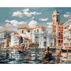 Венеция. Церковь Сан Джеремия живопись на холсте 40*50см 40х50 Белоснежка 126-AB