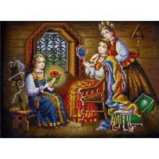 Три девицы (рис. на сатене 29х39) 29х39 Конек 9829