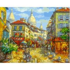 Париж. Монмантр  живопись на холсте 40*50см 40х50 Белоснежка 262-AВ