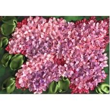 Набор Весенний мотив вышивка лентами 18,3х24,3 Каролинка КЛ(Н)-4012