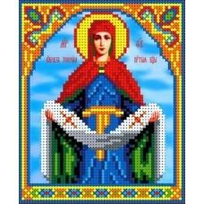 Покров Пресвятой Богородицы Рисунок на ткани 13х15,5 Каролинка ТКБИ 5074