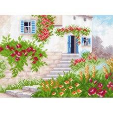 Цветочное лето Набор для вышивания бисер-нитки 28х34 (18х24) Матренин Посад 0003/БН