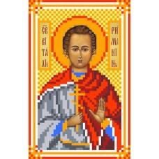 Святой Виталий Рисунок на шелке 22/25 22х25 (9х14) Матренин Посад 3049