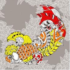 Узор золотой рыбки Набор для вышивания крестом 41х41 (36х36) Матренин Посад 1861/Н