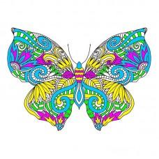 Узор бабочки Набор для вышивания крестом 41х41 (28х34) Матренин Посад 1863/Н