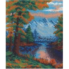 Горный пейзаж  набор для  вышивания бисером 23х29 МП-Студия БК-031