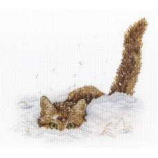 Набор Кот в снегу 20х25 МП-Студия НВ-557