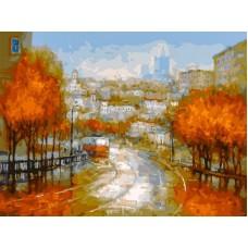 Осенняя симфония живопись на холсте 30*40см 30х40 Белоснежка 348-AS