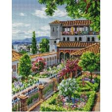 Сады Гранады Мозаика на подрамнике 40х50 40х50 Белоснежка 201-ST-S
