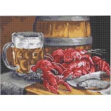 ТКБП 3058 Пиво с раками Рисунок на ткани