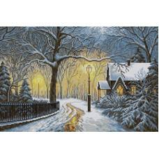 Набор Зимний вечер 40х60 Вышиваем бисером V-16