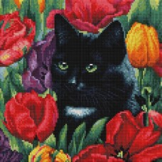 Среди тюльпанов Мозаика на подрамнике 30х30 30х30 Белоснежка 381-ST-S