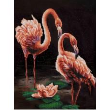 Фламинго (рис. на сатене 29х39) 29х39 Конек 9835