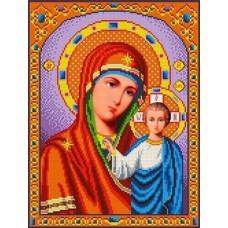 Набор Богородица Казанская бисер 27,5х35 Каролинка КБИН(Ч) 3023/1