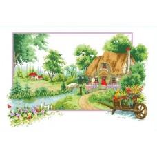 Набор Летний аромат канва с рисунком 30х47 Каролинка КТКН 124 (Р)