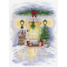 Набор Новогодняя дверь 25х18 МП-Студия А-018