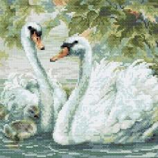 Белые лебеди набор для выкладывания стразами 30х30 Риолис АМ0036