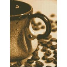 Чашечка кофе набор для выкладывания стразами 35х50 Паутинка М-237
