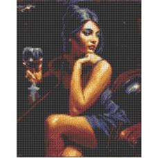 Набор Девушка с бокалом канва с рисунком 23х30 Каролинка КТКН 146 (Р)