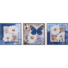 Набор Цветы любви комплект (3шт. 26,5х26,5) 3шт.  26,5х26,5 Магия канвы Б-038