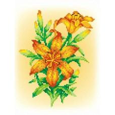 Огненная лилия Рисунок на канве 30х21см 20х15(30х21) МП-Студия СК-034