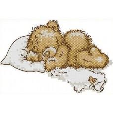Набор Медвежонок канва с рисунком 8,5х14 Каролинка КТКН 011 (Р)