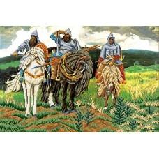 Три богатыря Рисунок на ткани 54,7х36,8 Каролинка ТКБП 2005