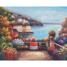 Среднеземноморский пейзаж набор для выкладывания стразами 53х42 Jing Cai Ge Diamond Painting DIY (Honey Home) 1083