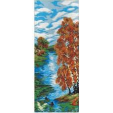 Осенний день  набор для  вышивания бисером 19х15 МП-Студия БК-032
