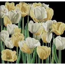 Желтые и белые тюльпаны набор для выкладывания стразами 43х41 Jing Cai Ge Diamond Painting DIY (Honey Home) 1258