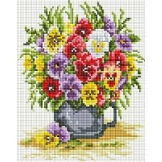 Цветочное счастье Набор для выкладывания стразами 20х25 Белоснежка 419-ST-PS