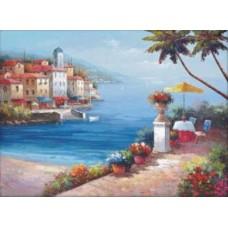Средиземноморский пейзаж 2 набор для выкладывания стразами 65х48 Jing Cai Ge Diamond Painting DIY (Honey Home) 1085
