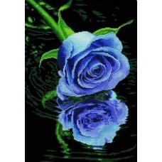 Роза синяя набор для частичной  выкладки стразами 44х62,5 Солнце HS-8020