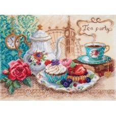 Время пить чай Набор для вышивания бисер-нитки 37х49 (30х40) Матренин Посад 0029/БН