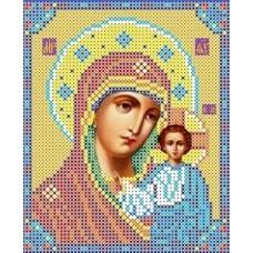Набор Богородица Казанская бисер 13х15,5 Каролинка КБИ 5023