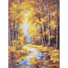 Осенние краски Рисунок на канве 23х30 Каролинка КК 023